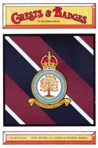 Postcard Royal Air Force No.1 School of Technical Training Badge Crest No.118
