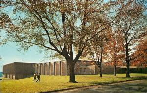 Canton NY~Students Stroll Across St Lawrence University Campus~Augsbury PE Bldg