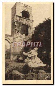 Postcard Ancient Arles on Phone Public Garden Statue Niobee