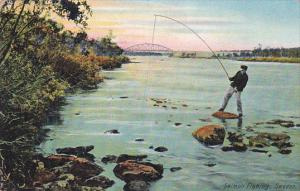 Man Fishing, Salmon Fishing, Sweden, 1900-1910s