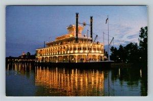 Orlando FL- Florida, Walt Disney World Village, Replica Ship, Chrome Postcard
