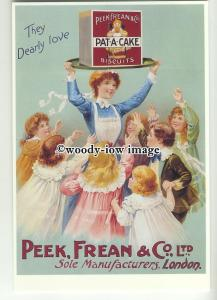 ad0299 - Pat A Cake Biscuits - Peek Frean & Co Ltd - Modern Advert Postcard