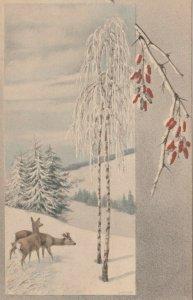 M.M.VIENNE Nr. 395: 1910 , Winter scene #3 ; M. MUNK