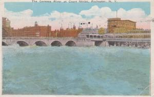The Genesee River at Court house Street - Rochester, New York - pm 1927 - WB