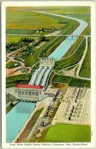 Columbus, Nebraska Postcard Loup River Public Power District: Hydro-Plant 1946