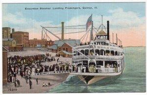 Excursion Steamer Landing Passenger, Quincy, ILL