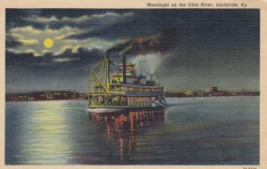 LOUISVILLE, Kentucky, 1930-1940s ; Moonlight on the Ohio River