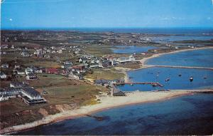 Block Island Rhode Island General View From The Air Vintage Postcard V18894