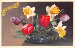 Happy Birthday Flowers Tulips Gelukkige Verjaardag