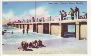 PC8 JLs postcard linen swimming pier clearwater beach fl.