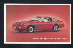 1976 CHEVROLET MONZA 2+2 SPORT COUPE VINTAGE CAR DEALER ADVERTISING POSTCARD