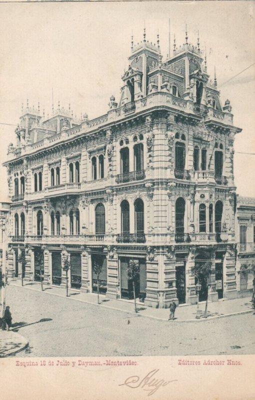 MONTEVIDEO ,  URUGUAY , 1907 ; Esquina 10 de Julio y Dayman