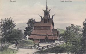 Fantoft Stavekirke, White Cross, BERGEN, Norway, 1900-1910s