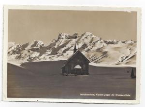 RPPC Switzerland Melchsee Frutt Kapelle Chapel Church 1939
