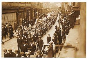 Vintage Repro Postcard Boys Brigade Parade through Toll Gravel, Beverley Y7