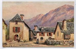 Old Houses Goust Village Pyrenees France 1910c Tuck postcard