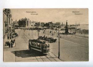 232990 FINLAND HELSINKI Kauppatori TRAM Vintage postcard