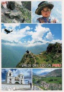 Arequipa Valle Del Colca Peru Fashion Mountains Rocks Rare Peruvian Postcard
