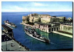 Postcard Modern Taranto Ponte Girevole Boat