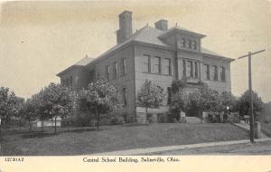 E43/ Salineville Columbiana County Ohio Postcard c1910 Central School Building