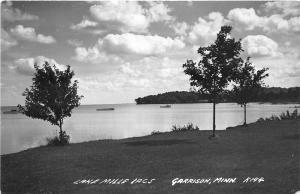 Garrison Minnesota 1954 RPPC Real Photo Postcard Lake Mille Lacs