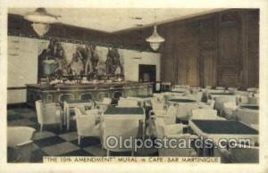 Café Bar Martinique, New York City, NYC USA Restaurant Old Vintage Antique P...