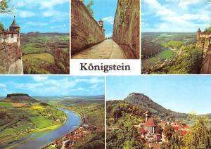 Koenigstein Festungsaufgang Blick ins Bielatal Blick auf Etbe Lilienstein