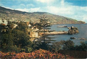 Portugal Postcard Madeira Funchal from the west hotel area picturesque view