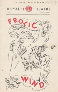 Frolic Wind Richard Pryce Comedy Royalty London Theatre Programme