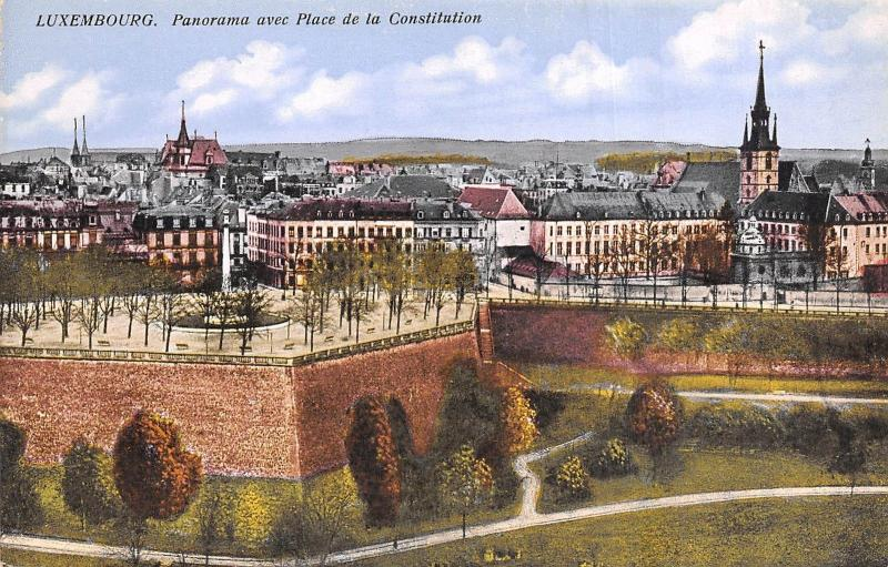Br35702 Luxembourg Panorama avec place de la Constitution luxembourg