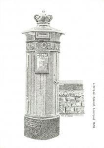 Postcard, Liverpool Special Post Pillar Box illustration, Post Office, 1863 82R