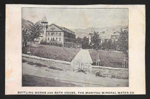 VICTORIAN TRADE CARD Manitou Mineral Water Bath House