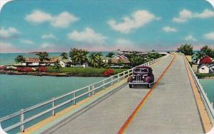 Florida Key West Overseas Highway Over Pigeon Key Between The Mainland And Ke...