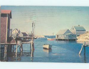 Pre-1980 TOWN VIEW SCENE Peggy's Cove - Halifax Nova Scotia NS p9575