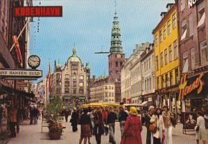 DEnmark Copehagen Stroget The Pedestrian Street