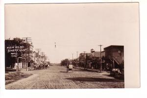 Real Photo, Main Street, Amery, Wisconsin, 1908 B H Dingman, Horse and Buggy