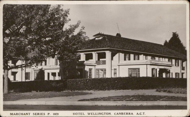 Hotel Wellington Canberra Australia Merchand series real photo