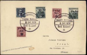 3rd Reich Sudetenland Reichenberg Mi 15 21 138 24 27 56306