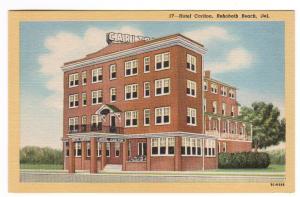 Hotel Carlton Rehoboth Beach Delaware linen postcard