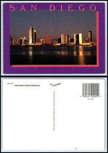 CALIFORNIA Postcard - San Diego from Coronado GB