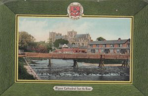 RIPON , Yorkshire , England , 1900-10s ; Cathedral From River