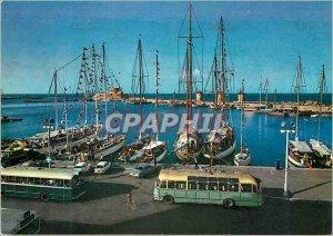 Modern Postcard Rhodes Port View Boat