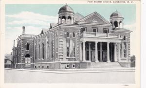 LUMBERTON , North Carolina, 1910s-20s; First Baptist Church