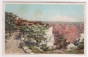 El Tovar Hotel Grand Canyon Arizona Fred Harvey Phostint postcard