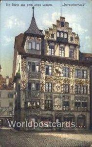 Ein Stuck aus dem alten Luzern Dornacherhaus Swizerland Unused