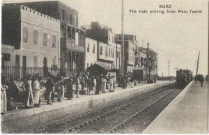 Egypt Suez The train arriving from Port-tewfik 01.22