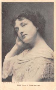 Miss Lilian Braithwaite~English Stage Actress~Stageland Series~1905 Postcard