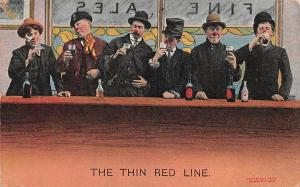 Fine Ales, The Thin Red Line, Wine Alcoholic Beverages Drinks Celebration 1909