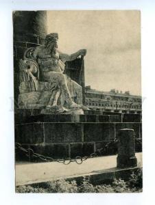 171224 Russia LENINGRAD Rostral column River God Vintage PC
