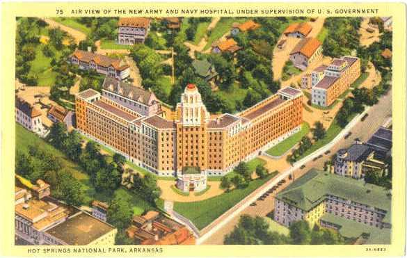 Linen of Army  Navy Hospital in Hot Springs National Park AR